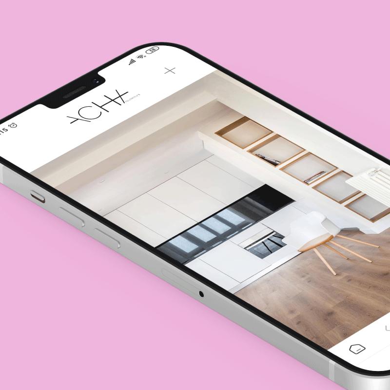 diseño gráfico presentación web en móvil