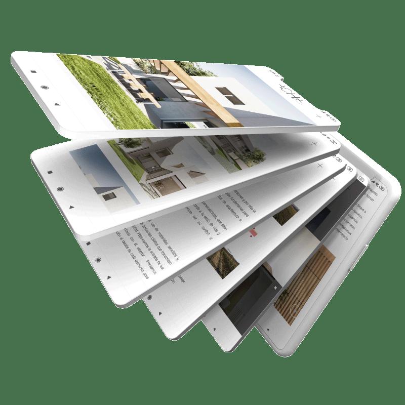 diseño gráfico presentación de web en móvil